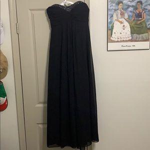 Chiffon Black Sweetheart Strapless Dress